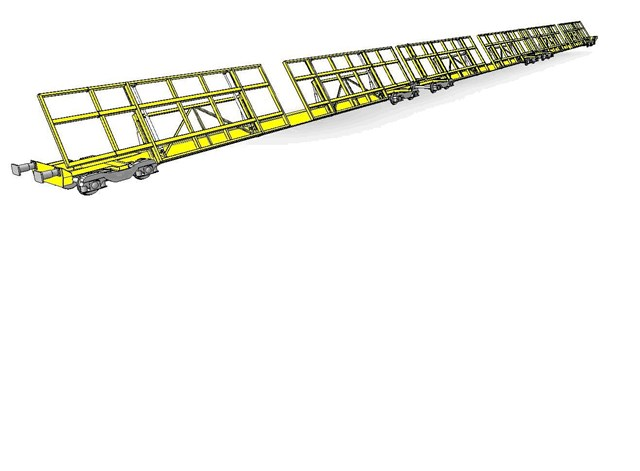 Artist's impression of the new tilting wagons: Artist's impression - Kirow has been appointed to design and build the wagons
