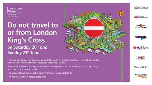 No trains in or out of London King's Cross on June weekend as East Coast Upgrade work continues