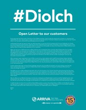 ATW Metro Diolch Letter English AW