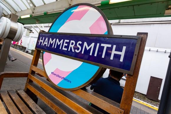 TfL Image - Pride Roundel at Hammersmith Station