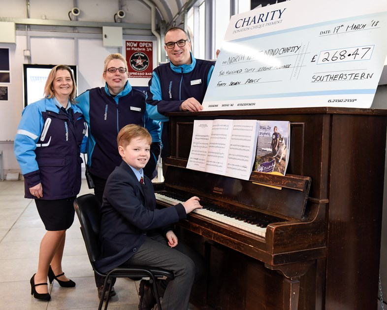 Musical schoolboy hits the right notes for mental health charity: 4. Harrison and station staff