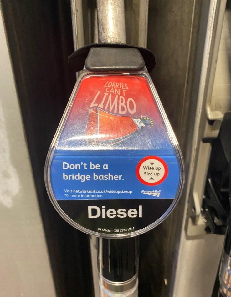NR bridge strike campaign motorway service station pumps