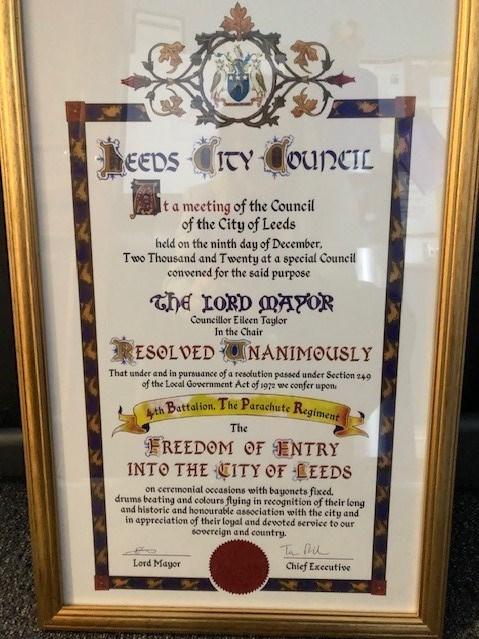 Freedom of Entry scroll