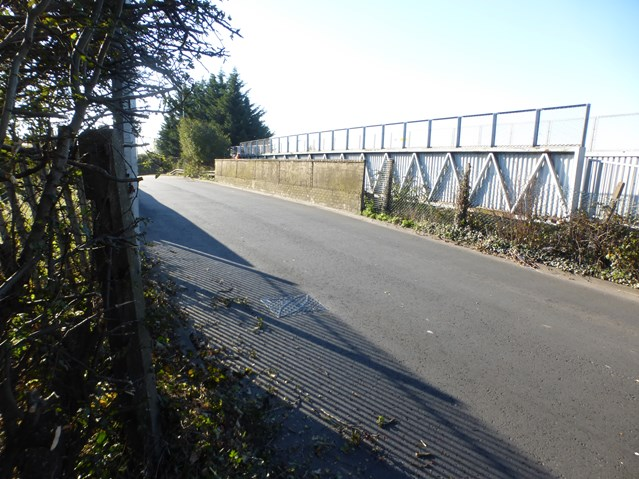 Mardy Road Bridge to temporarily close for upgrade work as electrification of the South Wales Mainline continues: Mardy Road Bridge in Cardiff 2