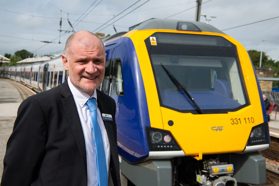 Steve Hopkinson welcomes new trains to Bradford, Skipton and Ilkley