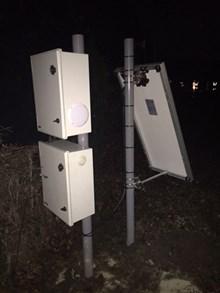 Warning system installed