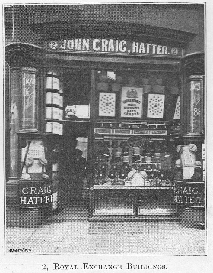 Fast x Slow Fashion online: John Craig Hatters in 1892 as it appeared in Leeds Illustrated.
