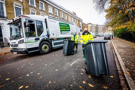 The eCollect refuse truck being used in Islington by Neil Spence and James Cullen: James Cullen (pictured left) and Neil Spence (pictured right)