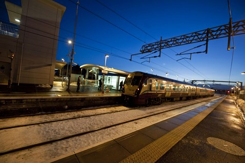 First trains on Airdrie-Bathgate _2