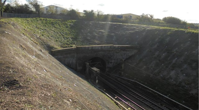 Better journeys for passengers as £4m embankment repairs are completed on the West Coast main line: Watford Tunnel approach completed work