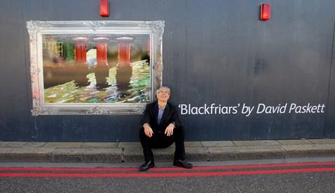 David Peskett with his artwork