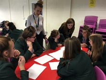 Network Rail graduates in a workshop with students at Frances Bardsley Academy