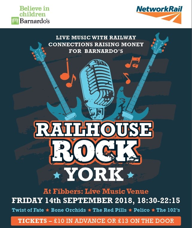 Railhouse Rock: Network Rail brings charity gig to York: Railhouse Rock Network Rail brings charity gig to York