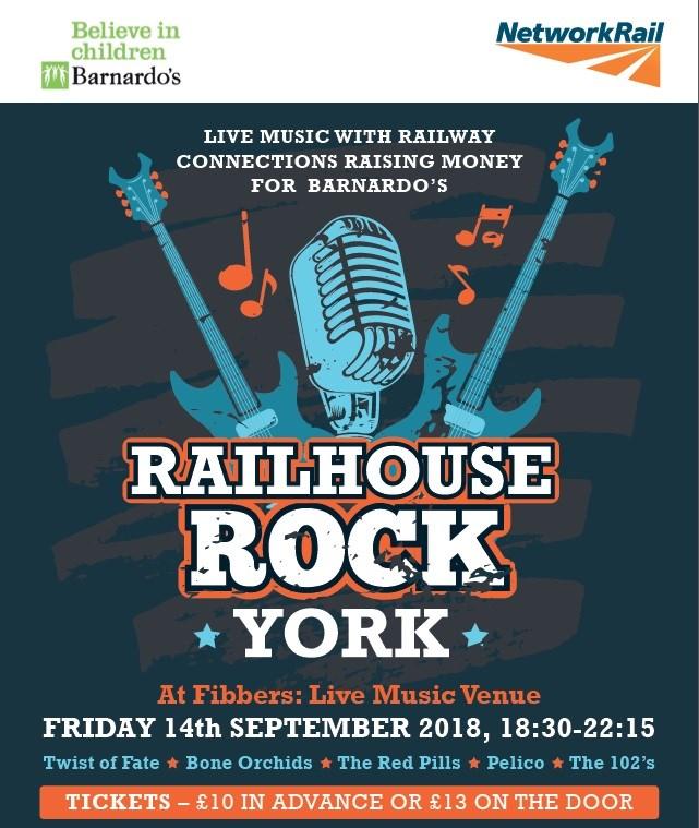 Railhouse Rock: Network Rail brings charity gig to York: Railhouse Rock Network Rail brings charity gig to York