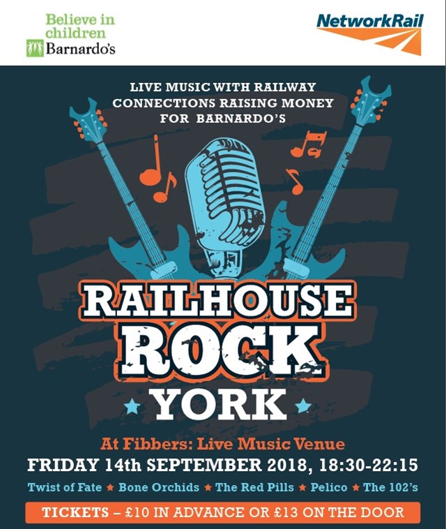 Railhouse Rock Network Rail brings charity gig to York
