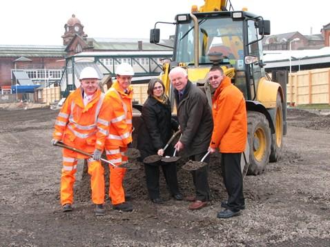 Nottingham car park - work begins 4.3.2011