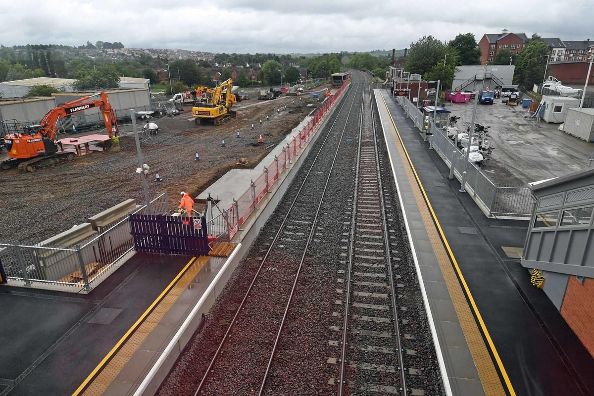 New platforms at Market Harborough