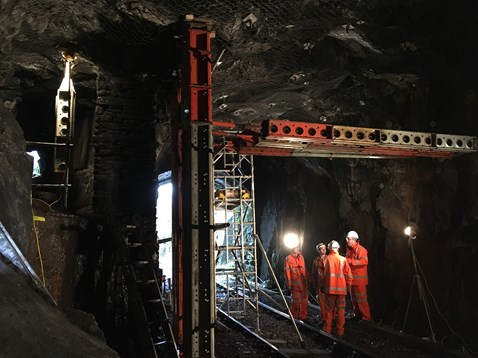 Engineers have been working day and night since the line closed on 20 October to repair the damage caused by recent storms