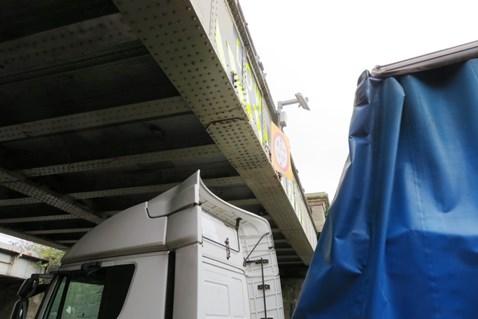 St John Street Lichfield lorry damage  11 10 17