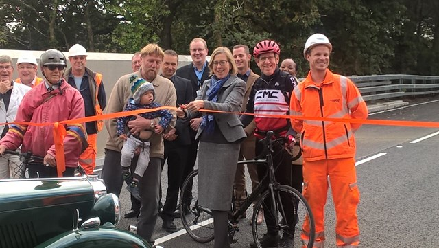 MP Sarah Newton cuts the ribbon