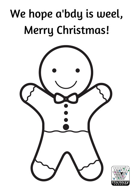 We hope a'bdy is weel gingerbread man colour me in template