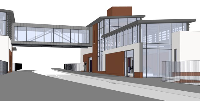 Hairmyres station on track for relocation and expansion: Hairmyres station - potential station design July 2021