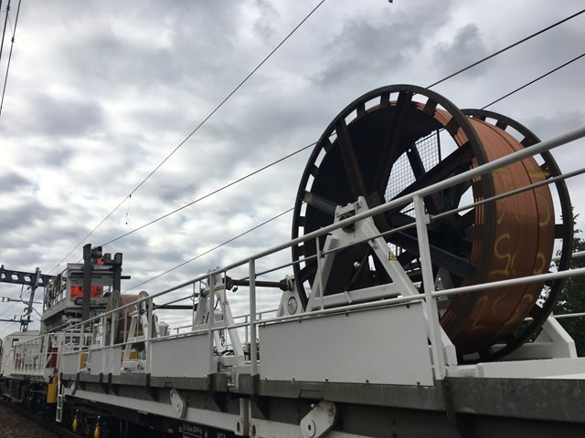 Southend Victoria - installing new overhead wires