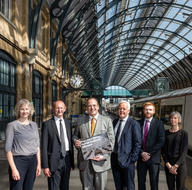 New Heritage Partnership Agreement Signed at King's Cross Station: group image HPA signing copyright Historic England