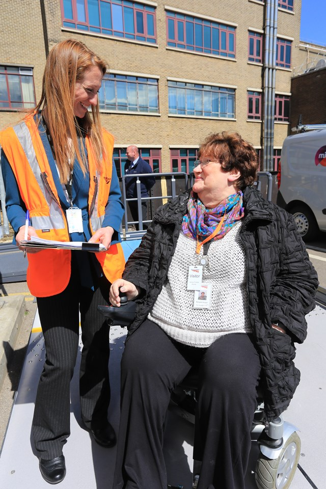 Senior ergonomist Kate Moncrieff and access and inclusion manager Margaret Hickish