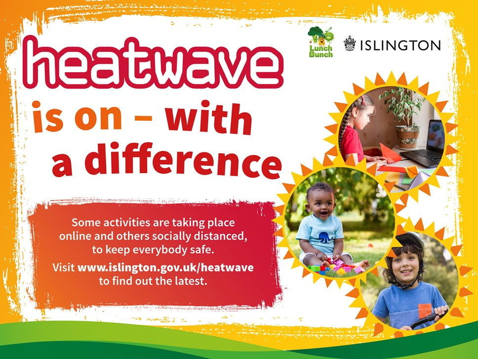 Islington's Heatwave summer programme for children and young people is back – but with a difference: Heatwave 2020