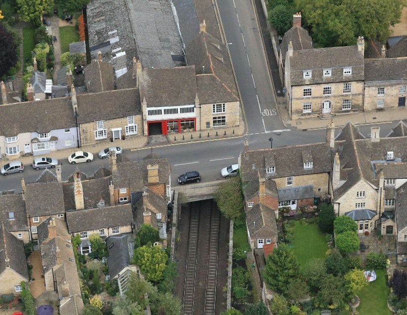 Network rail shortens bridge repair road closure in response to Burghley Horse Trials cancellation: 5- West Portal (routeview)