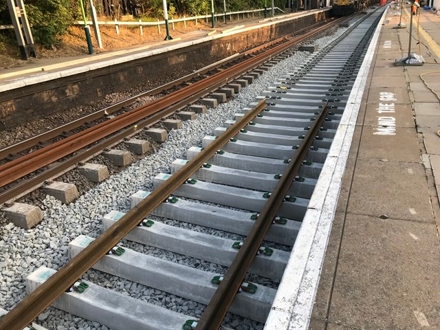 Leighton Buzzard Bank Holiday new rail and sleepers