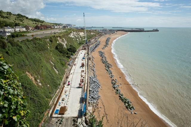 Dover to Folkestone railway will reopen this autumn: Dover to Folkestone railway will reopen this autumn: DoverSite-July2016-004