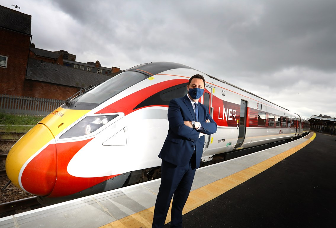 Mayor Welcomes Azuma Training Following Completion of Middlesbrough Station Platform Work: Mayor Welcomes Azuma Training Following Completion of Middlesbrough Station Platform Work