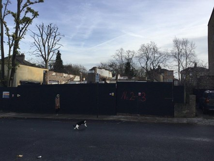 After demolition of houses on Hungerford Rd