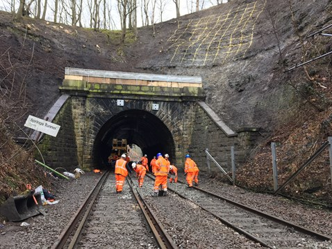 Network Rail engineers work non-stop to reopen Yorkshire rail line closed by landslip-2