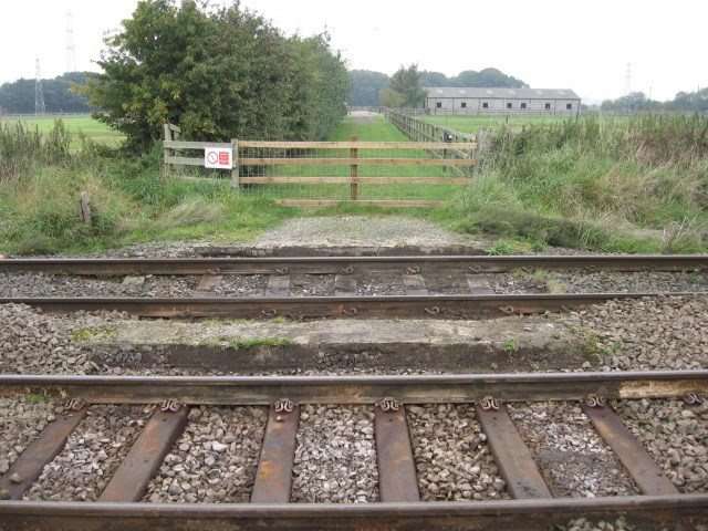Ivy Lea Farm crossing removed as Network Rail issues reminder on level crossing safety: Ivy Lea Farm crossing in September 2017