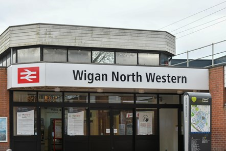 Avanti West Coast Wigan North Western 3: Wigan North Western station entrance