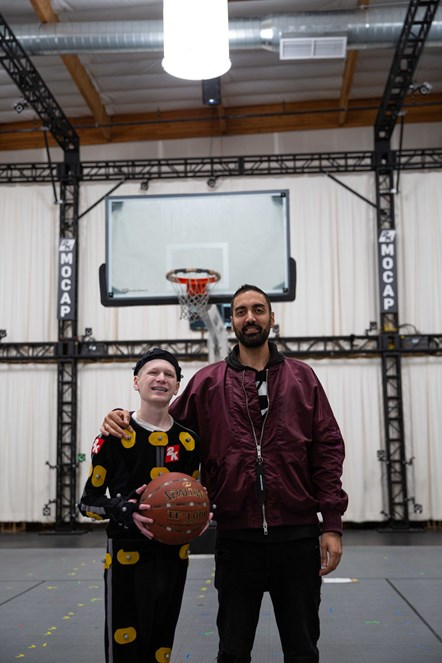 Make-A-Wish and NBA 2K - William and Ronnie2K at Mocap