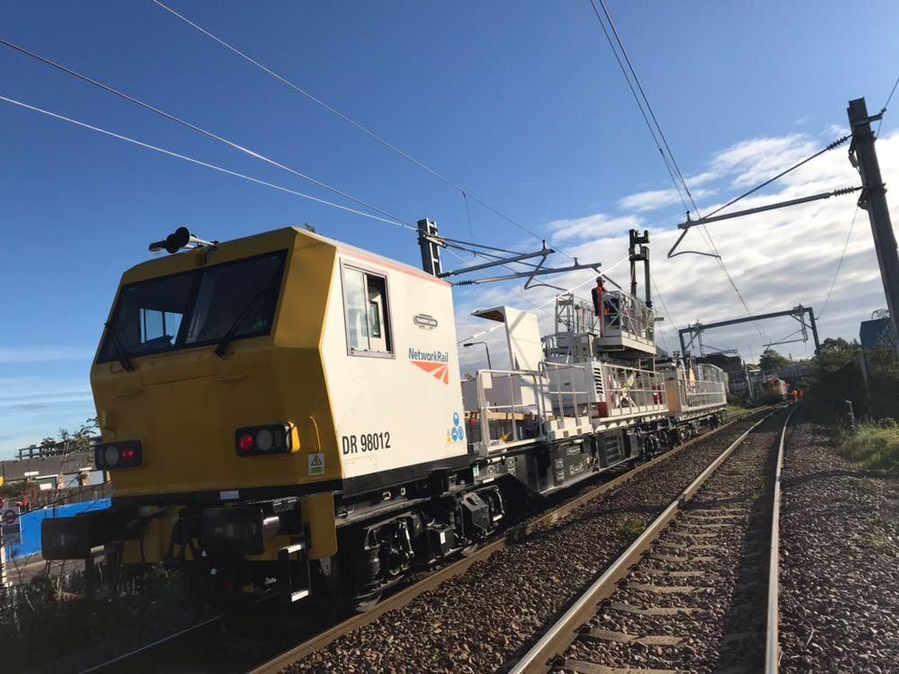 Gospel Oak to Barking electrification on track with confirmation of winter closure dates: Gospel Oak to Barking wiring train