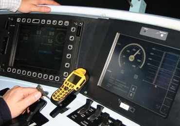 Example of ERTMS in-cab signalling: Example of ERTMS in-cab signalling