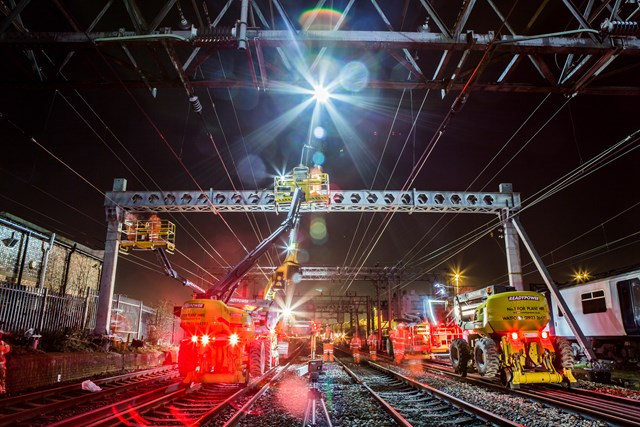 Railway Upgrade Plan continues over Easter to deliver better, more reliable railway for passengers in Anglia: Upgrade Works at Shenfield - Ingatestone