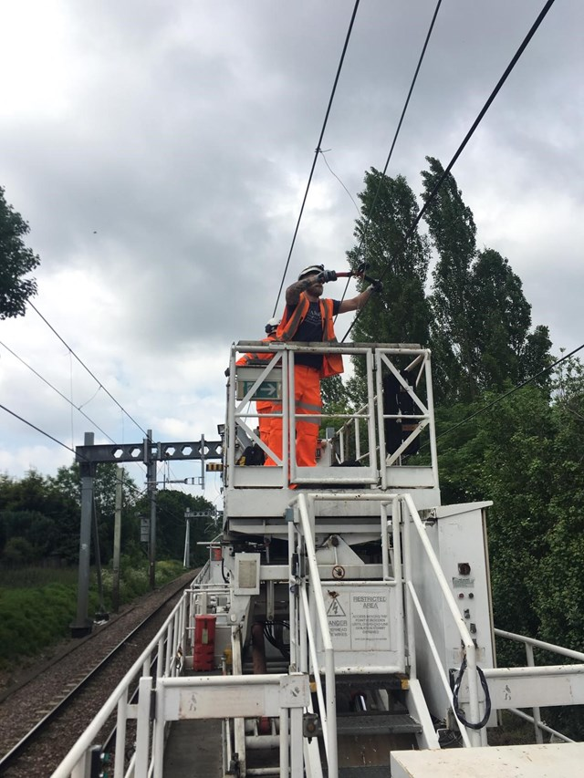 Passengers across Anglia reminded to plan their journeys before they travel: Southend overhead wires