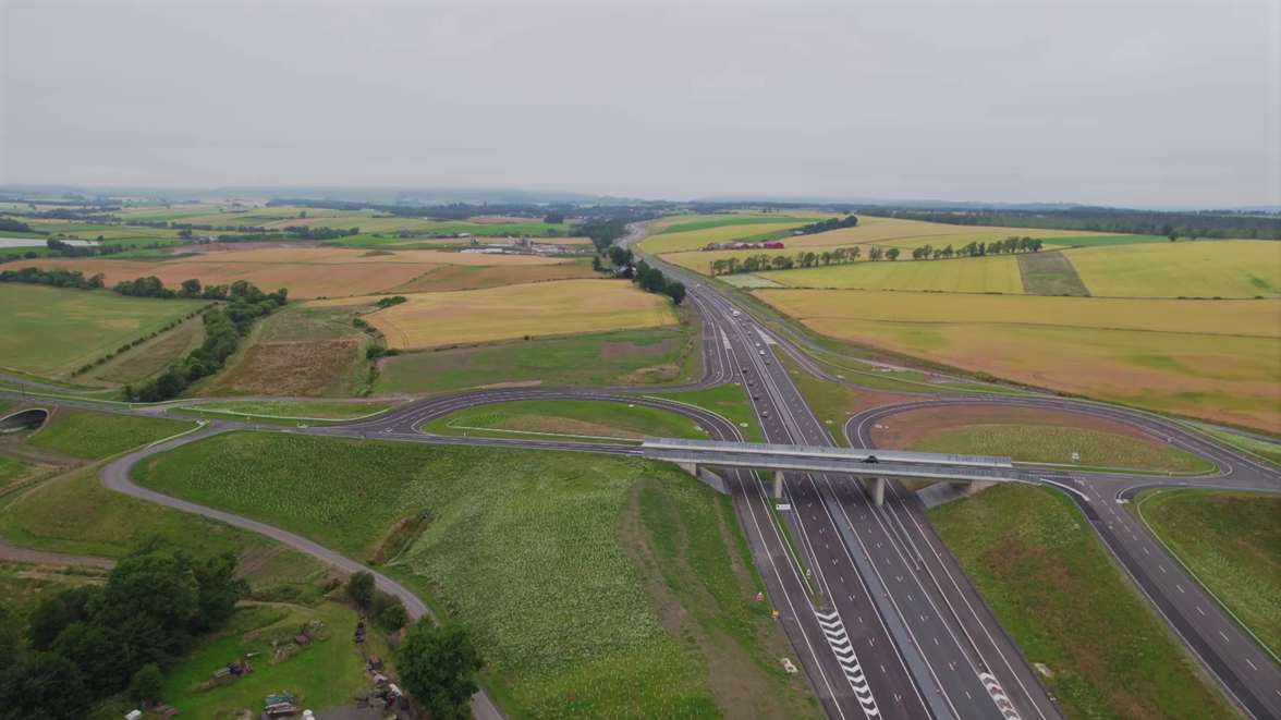 A9 Dualling Luncarty to Pass of Birnam - Stanley Tullybelton Junction - August 2021
