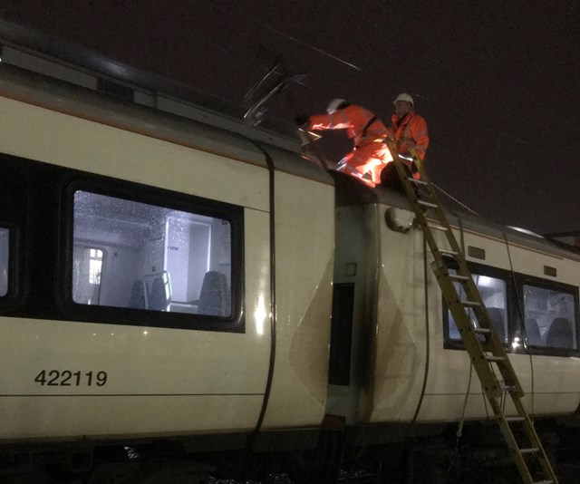 Network Rail's route director issues apology to Cambridge passengers: Dewirement at Cambridge-2