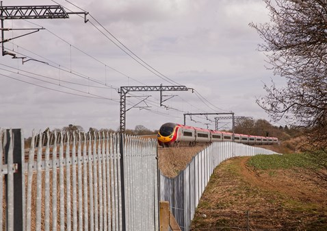 West Coast main line fencing