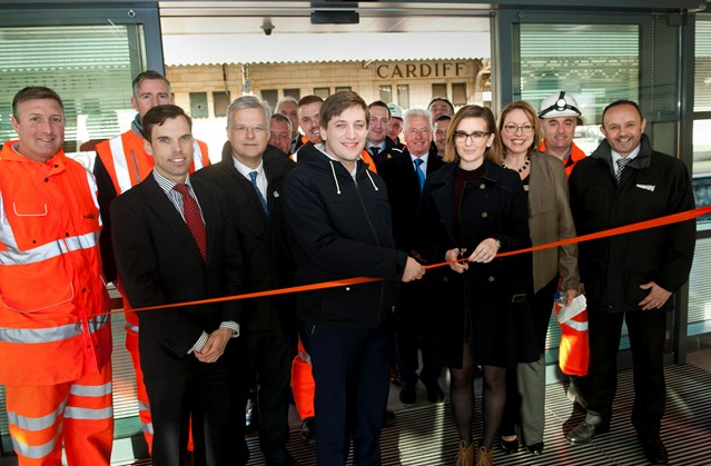 New platform at Cardiff Central station is officially opened as part of Network Rail's Railway Upgrade Plan: Platform 8 opening