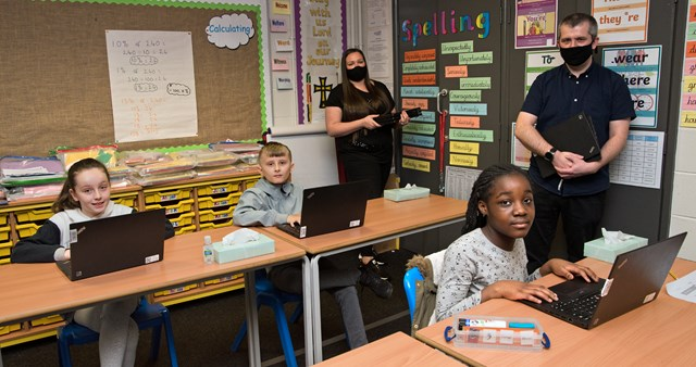 Network Rail donate laptops to all pupils at St Willibrords School in Manchester (2)