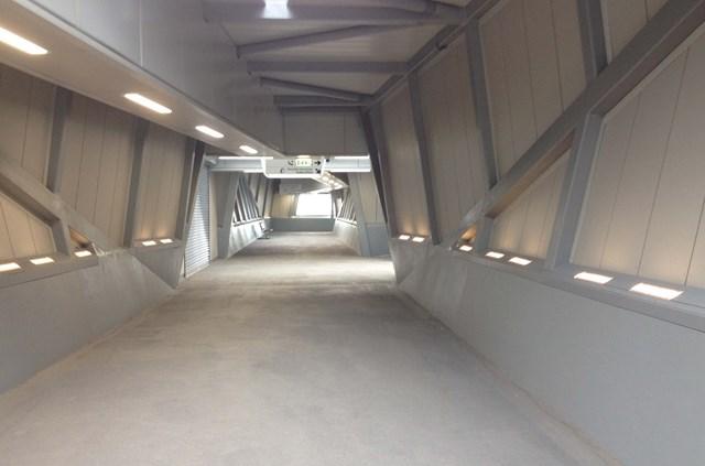 Port Talbot footbridge 1: The new footbridge at Port Talbot Parkway station.