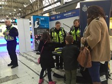Members of the public were invited to find out more about how they could stay safe near the railway